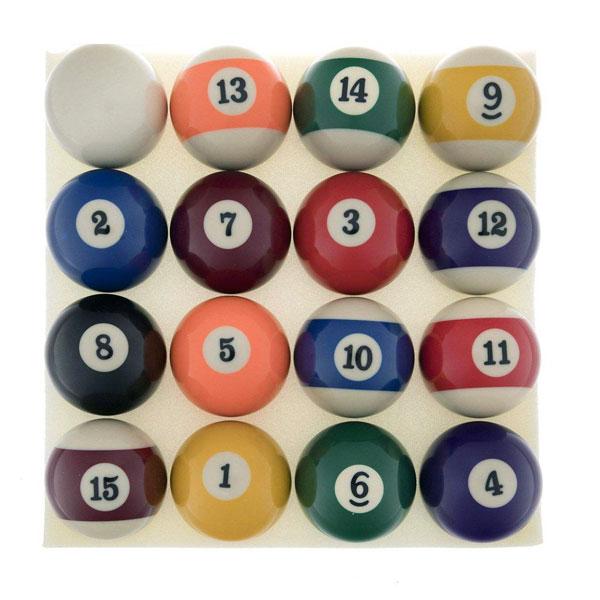 توپ بیلیارد مدل CHANCE مجموعه 16 عددی سایز 2
